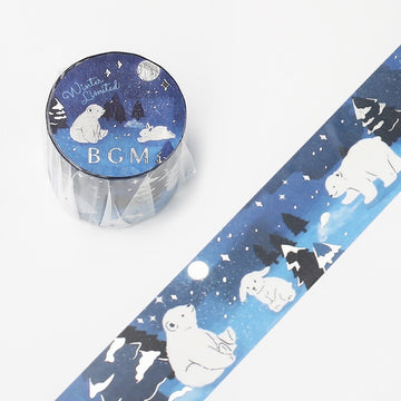 "BGM ""winter "" Washi Tape - snow night"