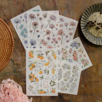 Loidesign Flowers collection transfer sticker set(set of 6)