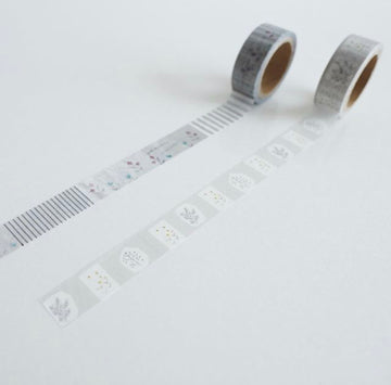 YOHAKUヨハク Collage Washi Tape - 001 & 002 check & stripe