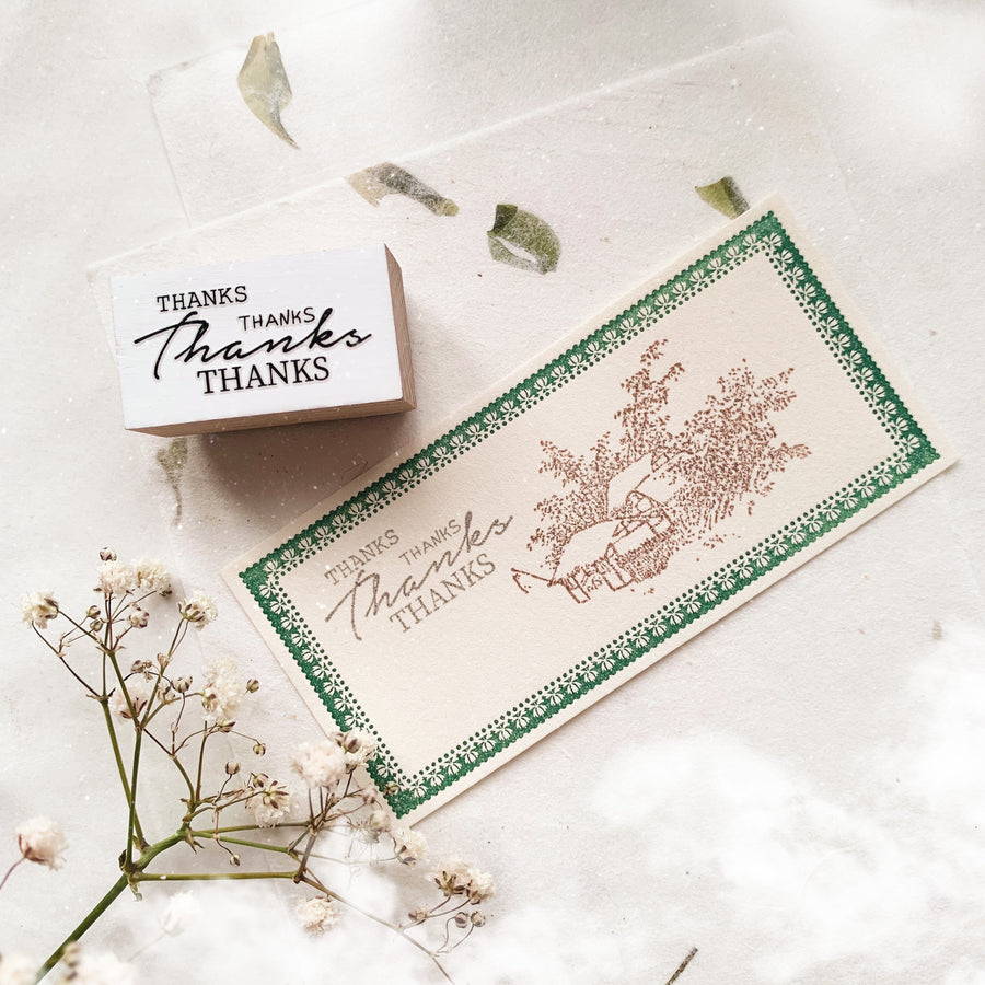 "B.Book ""Thanks"" Rubber Stamp"