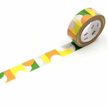 MT Deco Washi Tape Half Circle Yellow
