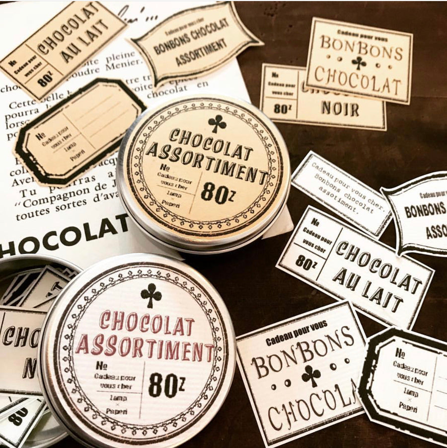 Lamp x Paperi Chocolate assortment label stickers