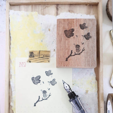 Black Milk Project rubber stamp - Bird-Paradise