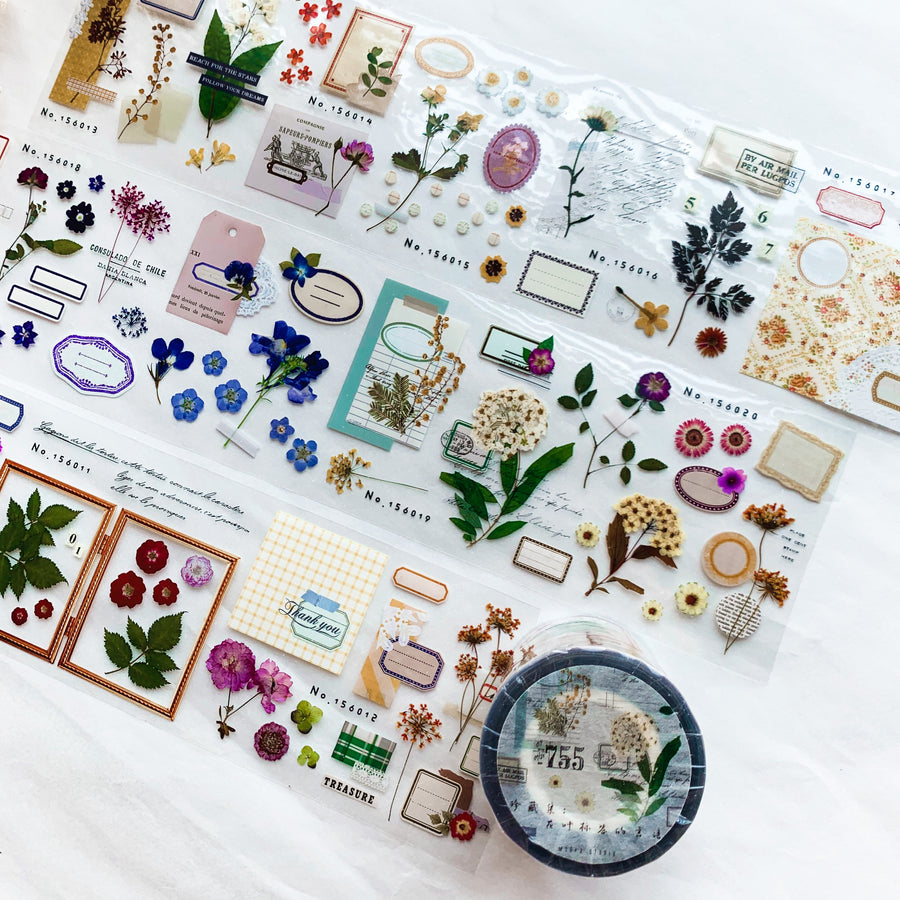 MooKA Studio Flowers & tags collection pet tape