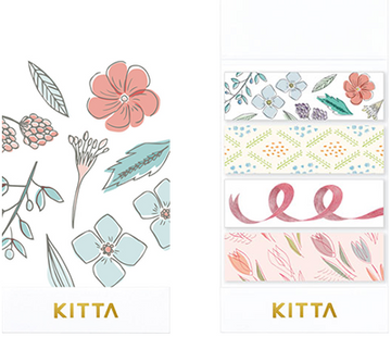 KITTA x moogy Seal Washi Tape- KITX002 Bouquet