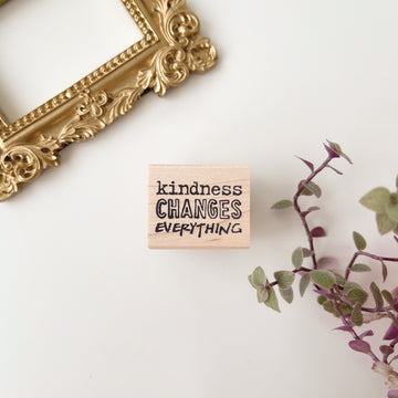 CatslifePress kindness changes everything Rubber Stamp