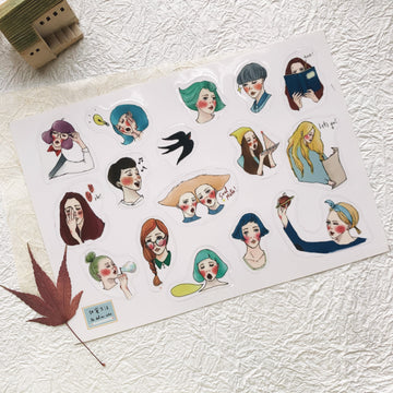 LDV Girls New Life transparent sticker sheet