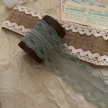 Vintage French Lace Ribbon - Blanc de blanc