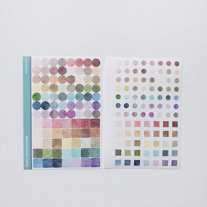 SomSom Watercolour journal Sticker