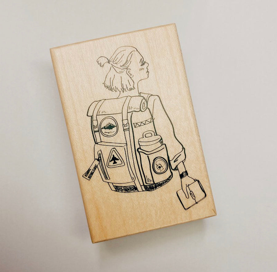 LDV Space Girl Rubber Stamp
