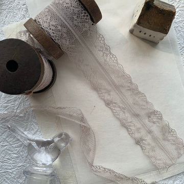 Vintage French Lace Ribbon - Cellophane