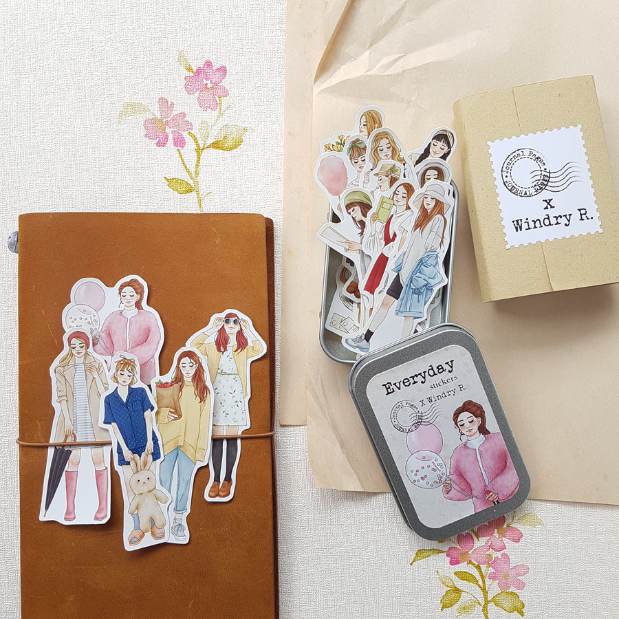 Journal Pages x Windry Ramadhina Everyday stickers in Tin
