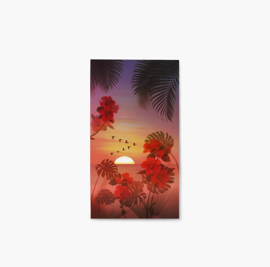 Appree Nature Scene Sticker Tropical Sunset