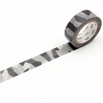 MT Deco Washi Tape Separate Check Monochrome
