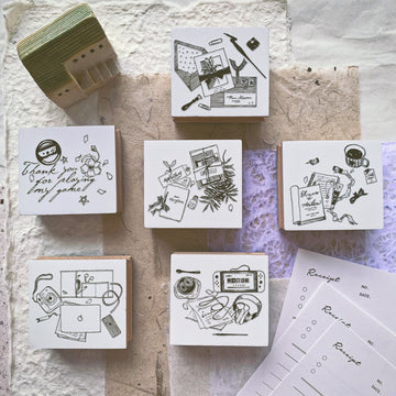 B.Book Beautiful life Rubber Stamps