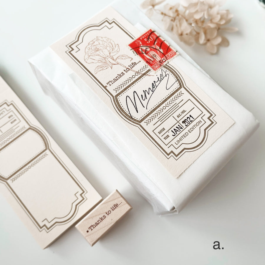 "Like studio ""Thanks for life"" rubber stamp"