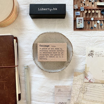 Liberty Dictionary Series Rubber Stamp - Collage