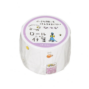 Maruai Omajinai washi roll sticker notes - Sheep