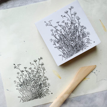 B.Book Blossom Rubber Stamp