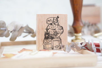 Black Milk Project Rubber Stamp - Delivery Girl