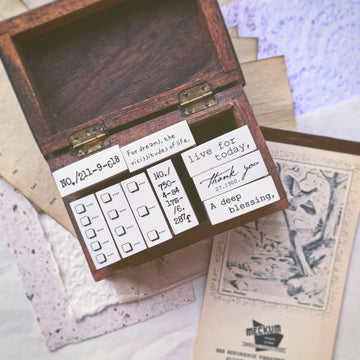 B.Book a little plan Rubber Stamps