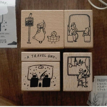 Yamadoro A Travel Day Rubber Stamp set