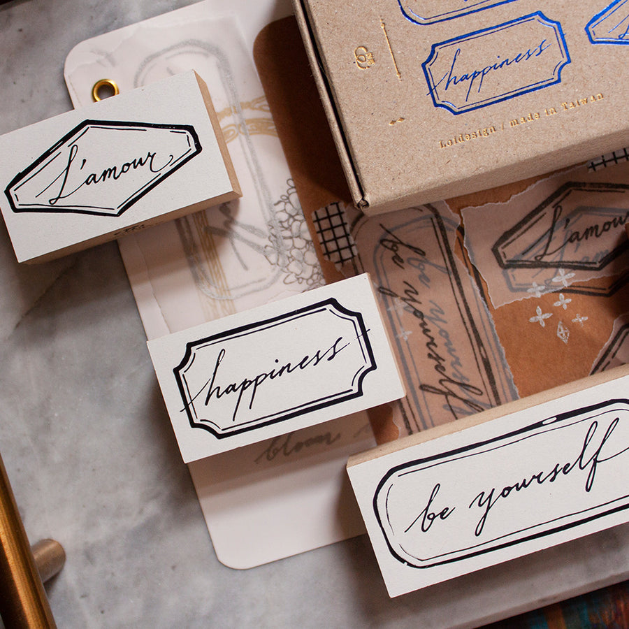 Loidesign Be yourself Rubber stamp set (set of 4)