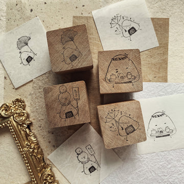 Black Milk Project Rubber Stamp - The Onigiri-chan set