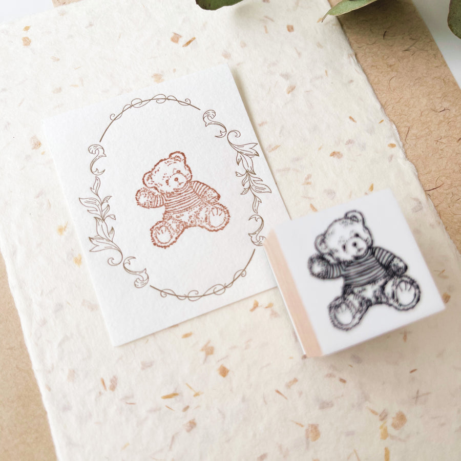 B.Book Rubber Stamps - Bear Bear family
