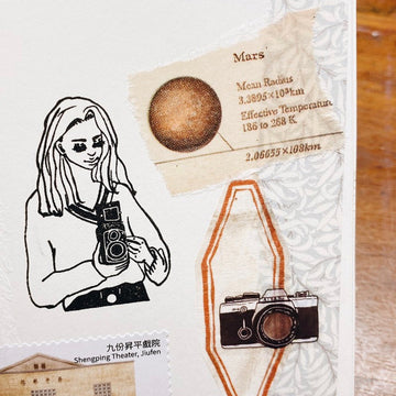 LDV Camera Girl Rubber Stamp
