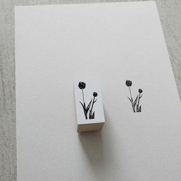 YOHAKU Original rubber stamp - tulip