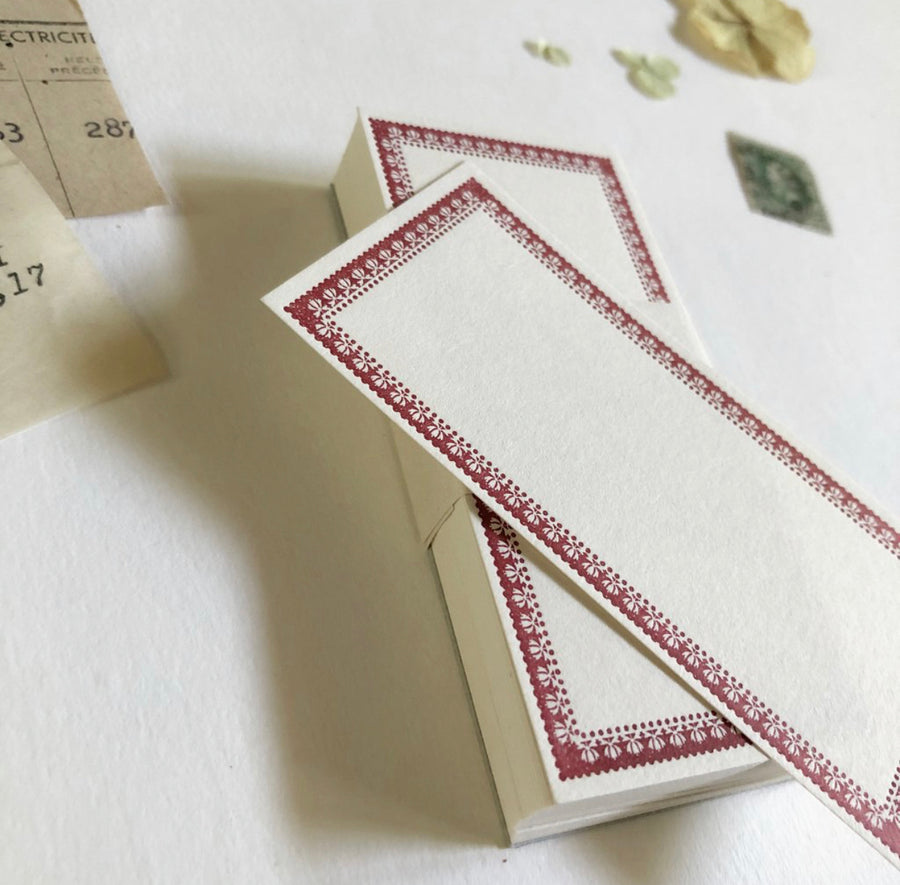 Niconeco Vintage Style Letterpress Notecard - Classic Red