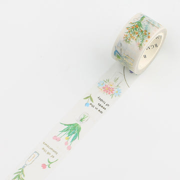 BGM Foiled masking Tape - flower vase