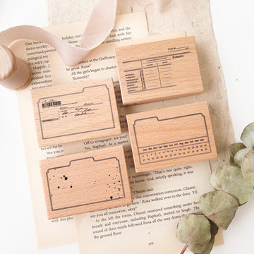 Journal Pages memories folder series rubber Stamps