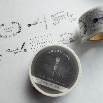 "Oeda letterpress ""7 Pattern "" Thank You Wash Tape"