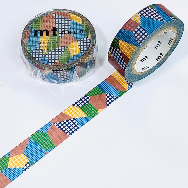 MT Deco Washi Tape Separate Check Dull Tone