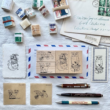 Liberty Animal Postman Series Rubber Stamp set