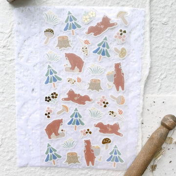 Yama Life Animal Washi Sticker Sheet - Bear