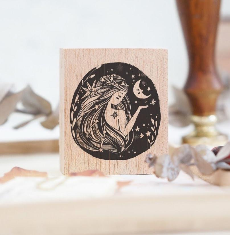 (Pre-order) Black Milk Project Rubber Stamp - Moon Lady