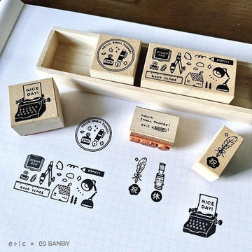 Eric - Stationery rubber stamp set