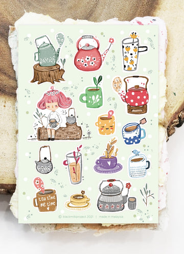 Black Milk Project matte sticker sheets - Tea time