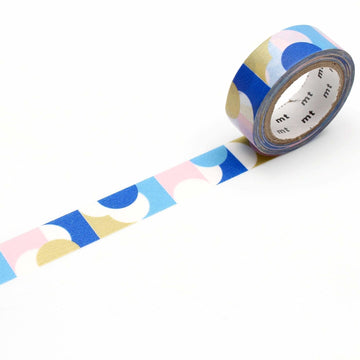 MT Deco Washi Tape Half Circle Pink