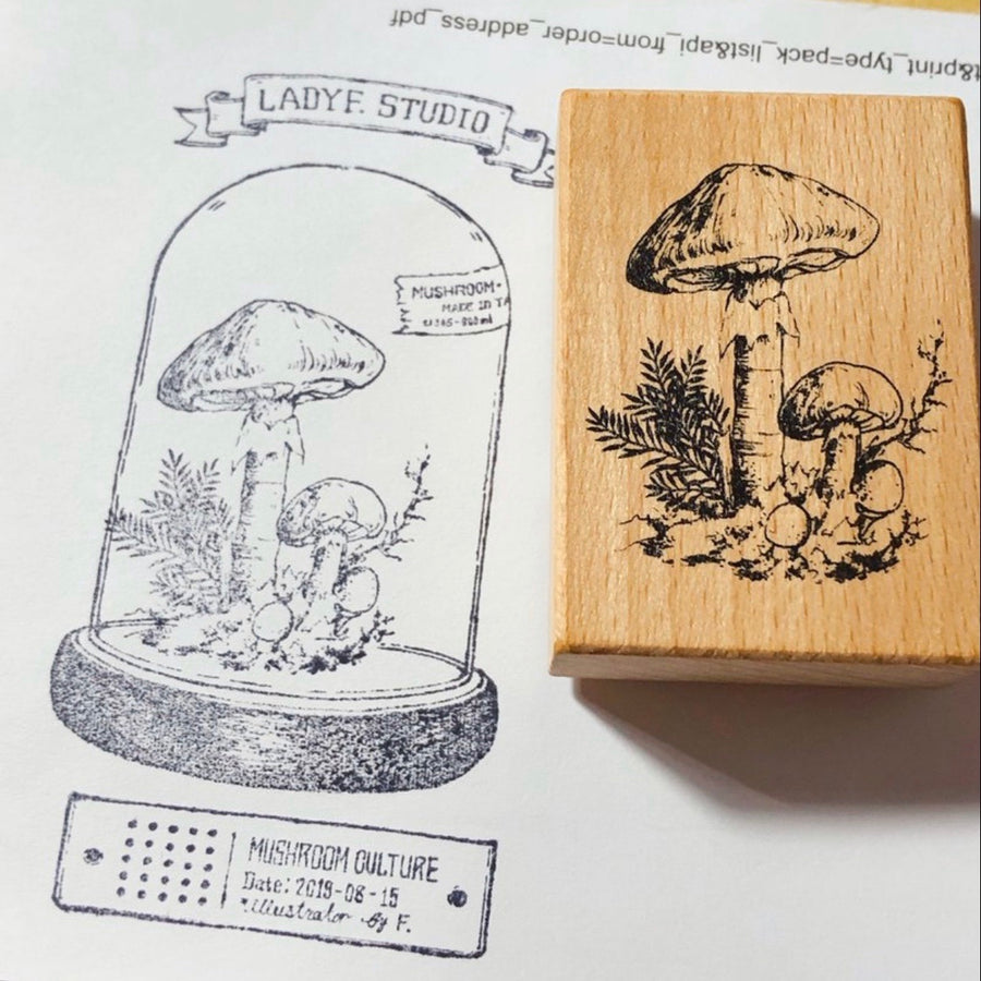 LadyF Mushroom Cultivation Laboratory Stamps