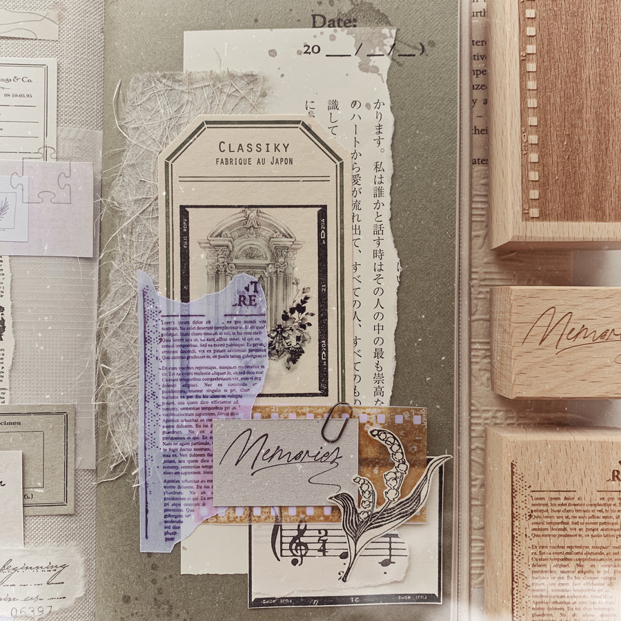 Journal Pages《Puzzles of Life》frame Rubber Stamps
