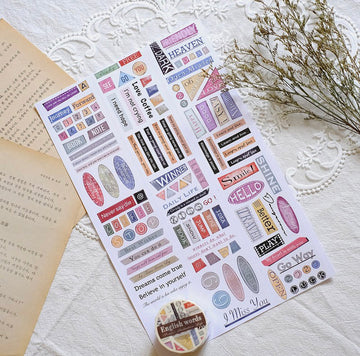 Sonia's Illustration Life English words washi tape