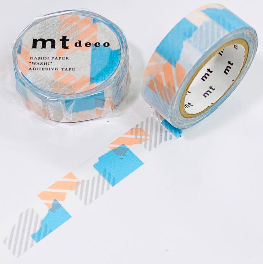 MT Tsugihagi Blue x Pink Washi Masking Tape