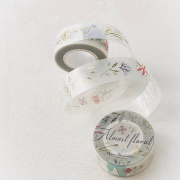 (Pre-order) Meow Illustration pet tape – Almost floral