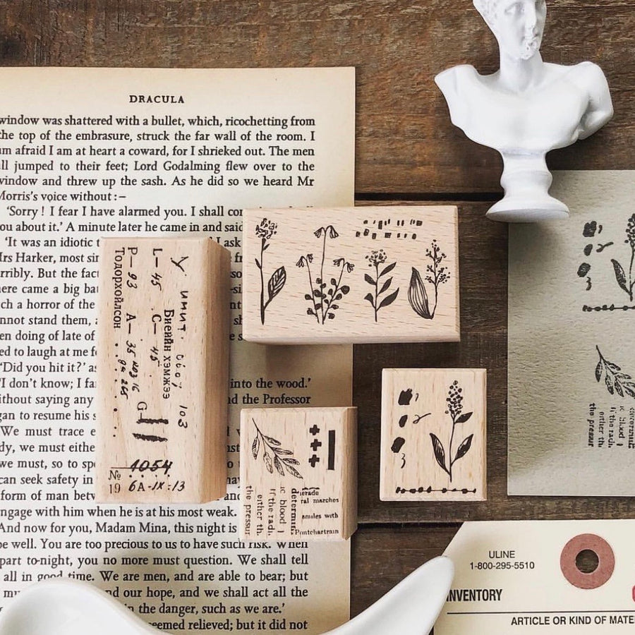 Pion - Flower collection Rubber Stamp set