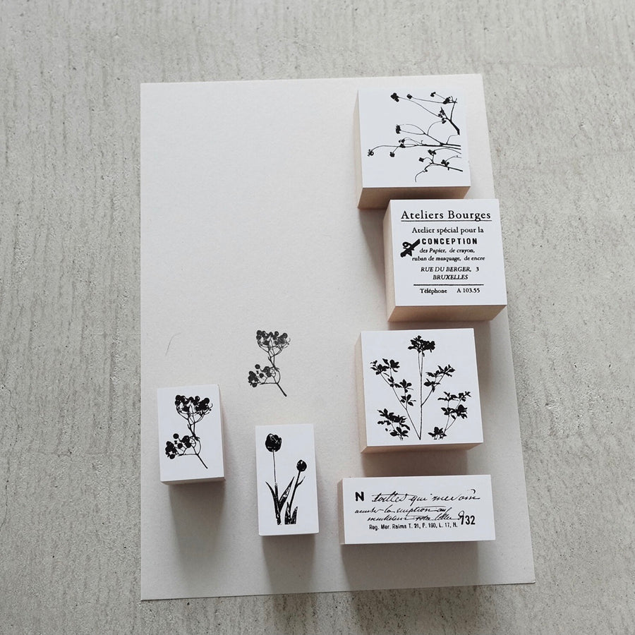 YOHAKU Original rubber stamp - Rowan