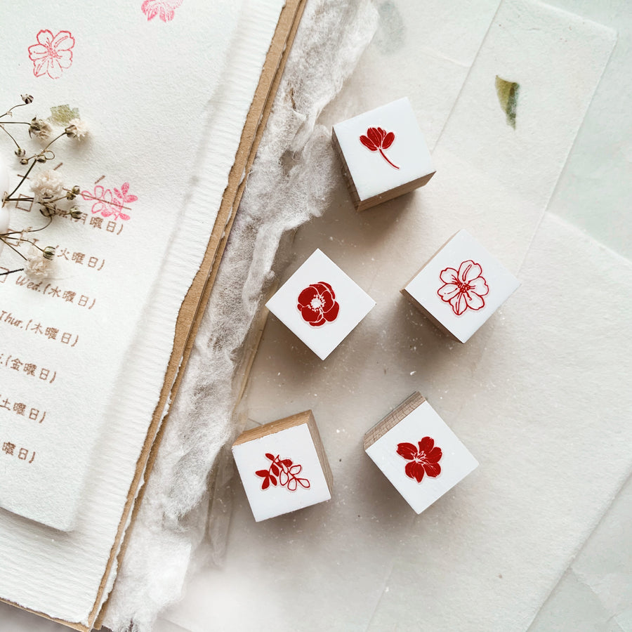B.Book little flowers Rubber Stamps set